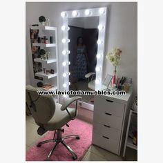 Dressing Room Design, Vanity, Victoria, Mirror, Furniture, Home Decor, Dressing Table With Lights, Modern Powder Rooms, Makeup Vanities
