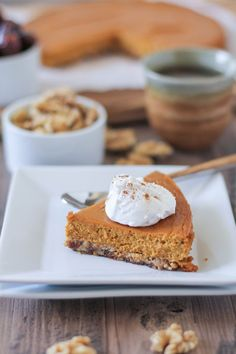 Paleo Pumpkin Pie - made with all whole food ingredients, this dessert is dairy-free, refined sugar-free, grain-free, and healthy!