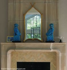Limestone Fireplace Tall - after | family room | Pinterest ...