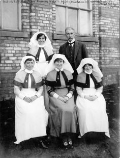 British Army Nursing Sisters and a doctor who served during WWII Matron Gertrude Thomas