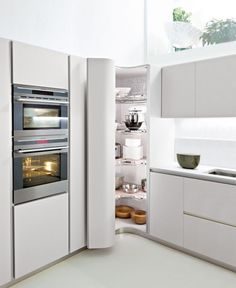 Do you want to have an IKEA kitchen design for your home? Every kitchen should have a cupboard for food storage or cooking utensils. So also with IKEA kitchen design. Here are 70 IKEA Kitchen Design Ideas in our opinion. Kitchen Corner Units, Corner Pantry Cabinet, Kitchen Pantry Design, Kitchen Pantry Cabinets, Corner Storage, Modern Kitchen Cabinets, Ikea Kitchen, Modern Kitchen Design, Interior Design Kitchen
