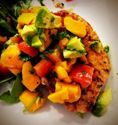 Paleo Pork Chops with Mango Avocado Salsa | The Paleo Panda