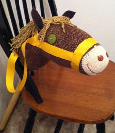 Custom Sock Stick Horse Hobby Horse Kids by beforeNafterdesigns