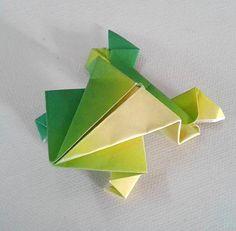 Rana saltarina - origami fatti a mano  Jumping frog - origami handmade