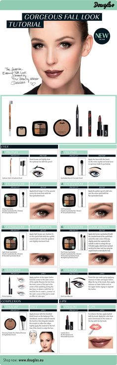 Fall Look Tutorial with Douglas Make-Up Poseidon, Shops, Fall Looks, Hair Beauty, Make Up, Shopping, Collection, Essie Nail Colors, Daughter