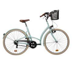 GROUPE 6 Vélos, cyclisme - VELO VILLE ELOPS 320 VERT B'TWIN - Vélo Ville
