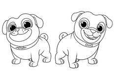 Puppy Dog Pals Coloring Page Bob, Bingo and Rolly