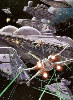 Star Wars Battle with many types of space ships. #SpaceShips #StarWars #SpaceBattle