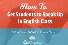 Want students to speak up in English class? Have adult ESL students or native speaker teens who are bored of speaking topic lists? I have 5 tricks...