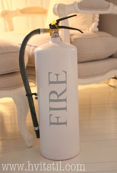 painted fire extinguisher