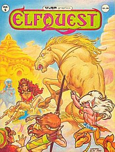 Elfquest - the ENTIRE saga (so far) can be found at the link.  One of the best sci-fi/fantasy action comic book series.  Also, one of the best romance books (Cutter and Leetah's love story is one of the few to actually move me to tears while reading it).