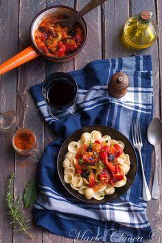 Pasta Peperonata dans les règles de l'art ( Sans lait, Sans Oeufs, Vegan, IG Bas )