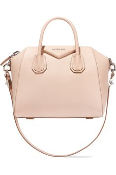 Cream textured-leather Two top handles, detachable shoulder strap Designer plaque, silver hardware Internal zipped and pouch pockets Fully lined in black canvas Zip fastening along top Designer color: Nude Pink Comes with dust bag Weighs approximately 2.9lbs/ 1.3kg Made in Italy