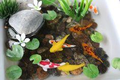 Miniature Koi Pond in Resin by rezinology on Etsy Liquid Resin, Koi Carp, Altoids Tins, Pond, Artsy, Miniatures, Water Pond, Minis, Garden Ponds