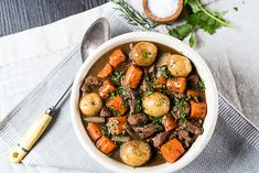 Tommy is not a fan of corned beef; this sounds like a great alternative :: Slow Cooker Irish Beef Stew