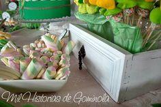 #CandyBar #MesadeChuches para #boda #chuches #verde #amarillo #milhistoriasdegominola
