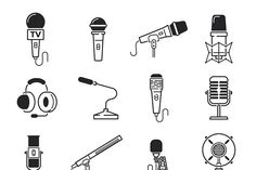 Vector microphone icons - Illustrations