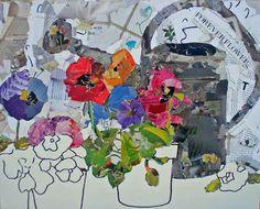 torn paper collage glue - Google Search