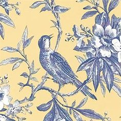 If I could get my hands on this beautiful fabric I'd make my own bedding.  CHELSEA MORNING TOILE, Thibautdesign.com