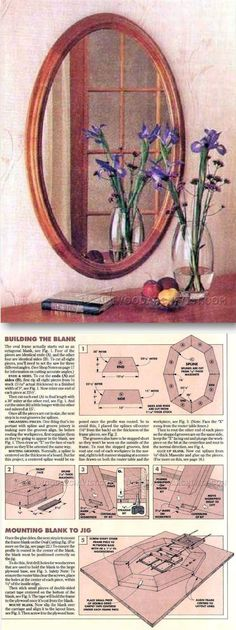 Oval Mirror Plan - Woodworking Plans and Projects | WoodArchivist.com
