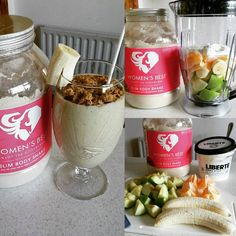 Two Apples�� Two bananas�� Two oranges�� Half of Libertè yoghurt 30g Women's Best Cookie&Cream Slim Body Shake Topping it off with Nature valley #healthy #food #shake #womensbest #love http://w3food.com/ipost/1516719181387003899/?code=BUMeA8-l_f7