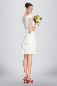 Immortal Short A-line Bridesmaid Dress Highlighted with Floral Lace Overlay and Satin Bow, Quality Unique Bridesmaid Dresses Unique Bridesmaid Dresses, Satin Bows, Lace Overlay, Floral Lace, Stuff To Buy, Wedding, Vintage, Fashion, Mariage