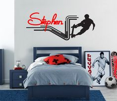 Sports Skateboarding Personalized Name Wall Decal, Wall Sticker for Boy's  Room, Teen Room Decal