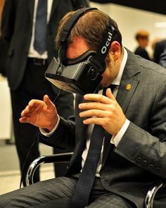 An awesome Virtual Reality pic! #event #oculus #oculusrift #riftdk2 #vr #virtualreality  #vre #reaction #emotions #emotional #fun #play #game #tech #business #startup #marketing #enterpreneur #immersion #palmerluckey #poland #polska #picoftheday #instagood #vsco by vre_official check us out: http://bit.ly/1KyLetq