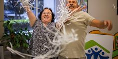This is the best kind of confetti! After 19 years, Irma and Silverio recently made their final payment on their #HabitatforHumanity home and celebrated by shredding the mortgage. #FeelGoodFriday