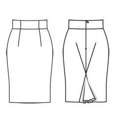 Spódnica - liczba Wzór 103 B Journal 2/2011 Burda - wzory na spódnice Burdastyle.ru