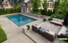 Pergola Terrasse Videos Jacuzzi - Pergola Patio Attached To House Decks Outdoor Living - - Backyard Pool Landscaping, Backyard Pool Designs, Swimming Pool Designs, Small Backyard With Pool, Swimming Pools Backyard, Pergola Designs, Landscaping Ideas, Jacuzzi, Square Pool