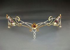 Lorien crown tiara headpiece sterling bridal wedding celtic fantasy lotr elven. $304.99, via Etsy.