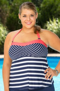 The Beach House Separates Ship Shape Bandeau Plus Size Tankini Top style #70830 is a sporty & seafaring tankini top every curvy girl is bound to love. Take pride in your curves as you show off your