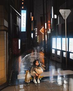 Cartoon Girl Images, Cartoon Art Styles, Girl Cartoon, Pretty Art, Cute Art, Alone Art, Anime Scenery Wallpaper, Digital Art Girl, Anime Art Girl