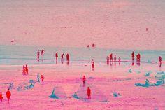 "Saatchi Art Artist Nicolas LE BEUAN BENIC; Photography, ""La plage rose"" #art"