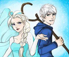 Elsa and Jack by Balhinha.deviantart.com on @deviantART