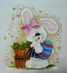 Coisas da Nil - Pintura em tecido: Entre cenouras e chocolates...