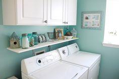 blue laundry room