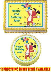 Kipper The Dog Birthday Edible Party Cake Sticker Image Cupcake Topper Favor | eBay