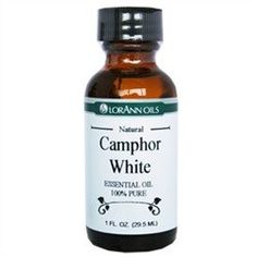 White Camphor Essential Oil Cinnamomum camphora (China)Sharp camphorous menthol-likeSteam DistilledAll of our essential oils are quality tested and lot-coded for quality assurance and t...