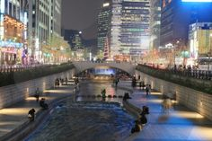Cheonggyecheon Stream. One of our favorite walks in the world.