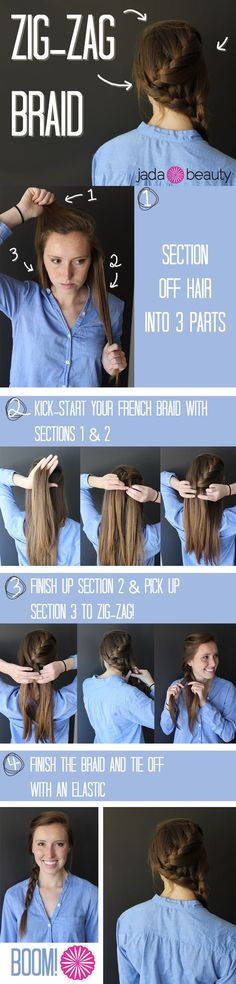 Zig-Zag Braid Tutorial - The possibilities of ways to style your hair into a braid are endless!