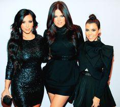 kim, kourt, & khloe kardashian.
