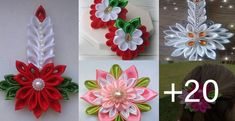 CURSOS GRATIS DE MANUALIDADES DE MANUALIDADES- DIPLOMADO Kanzashi Tutorial, Quilling Christmas, Beaded Flowers, Diy And Crafts, Christmas Decorations, Ribbon Flower, Snowman, Christmas Crafts, Plastic Bottle Flowers