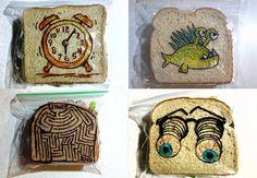 O melhor pai do mundo: Danid LaFerriere ilustra todos os dias as embalagens de sanduíches dos filhos desde 2008. #Illustration