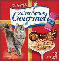 Hartz Silver Spoon Gourmet Cat Roasted Chicken and Shrimp (1 Pack) -- Wow! I love this. Check it out now! : Best Cat Food