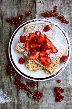 Morning Berry Waffles