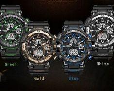 Masívne pánske hodinky z chirurgickej ocele v niekoľkých farbách10 White Gold, Watches, Blue, Accessories, Tag Watches, Clocks, Ornament
