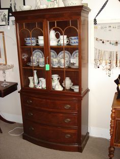 Duncan Phyfe Small China Cabinet Pick Up Only In By LizTishandCo