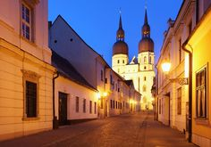 Night street in Trnava
